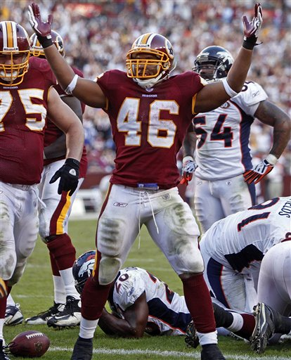 Broncos Redskins Football